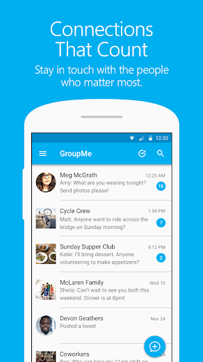 Screenshot 0 for GroupMe's Android app'