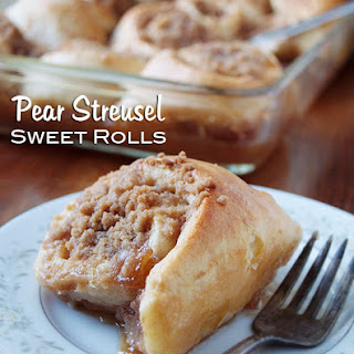 Pear Streusel Sweet Rolls #TwelveLoaves September
