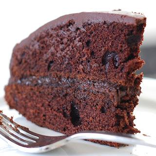 Chocolate Peppermint Birthday Cake