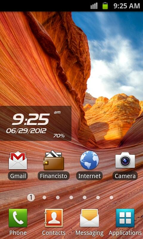 Proton Clock Widget Pro- screenshot