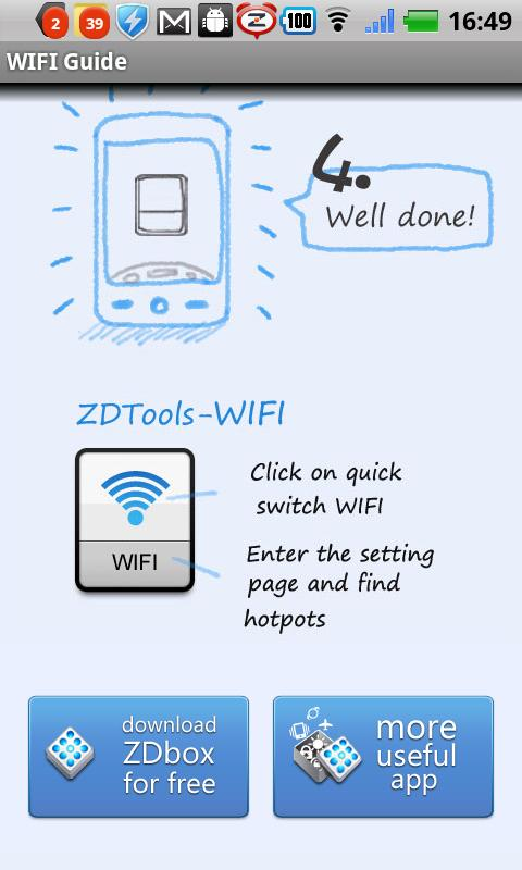 WIFI widget(One tap switch) - screenshot