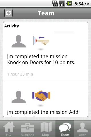 5ivepoints Mobile Campaigner - screenshot