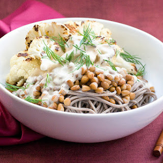 Roasty Soba Bowl With Miso Tahini.
