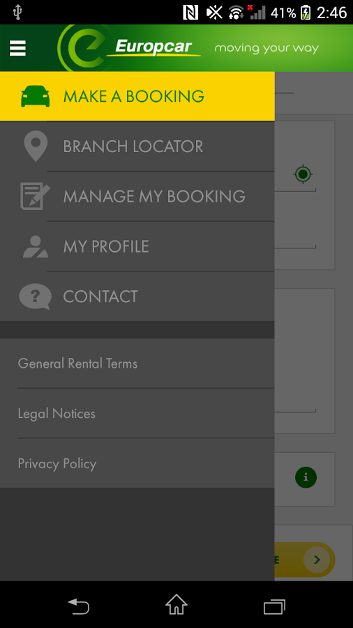 Europcar – Car Rental App- screenshot