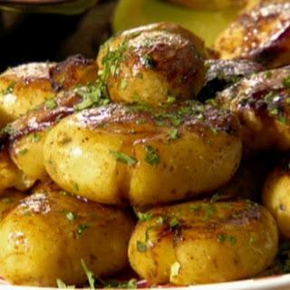 Gold potatoes: Jacques Pepin style