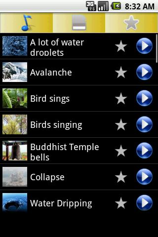 3D Natural sounds Ringtones - screenshot