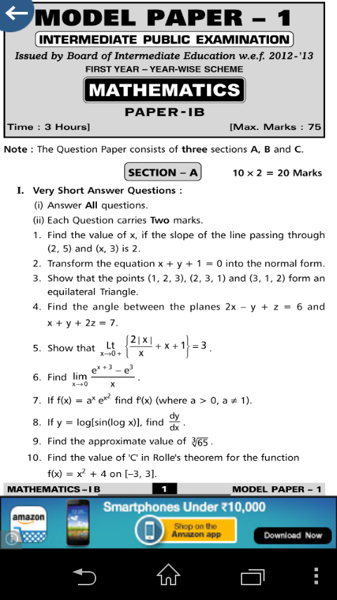 intermediate previous question papers second year
