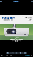 Screenshot of Panasonic Wireless Projector