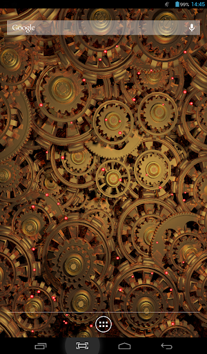 Golden Gears 2 Live Wallpaper screenshot
