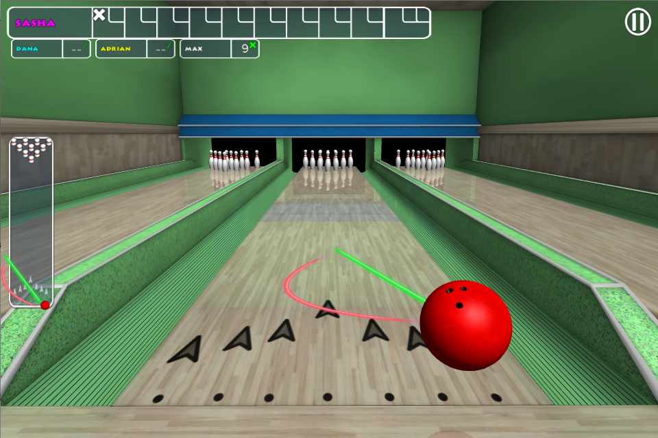 Trick Shot Bowling- screenshot