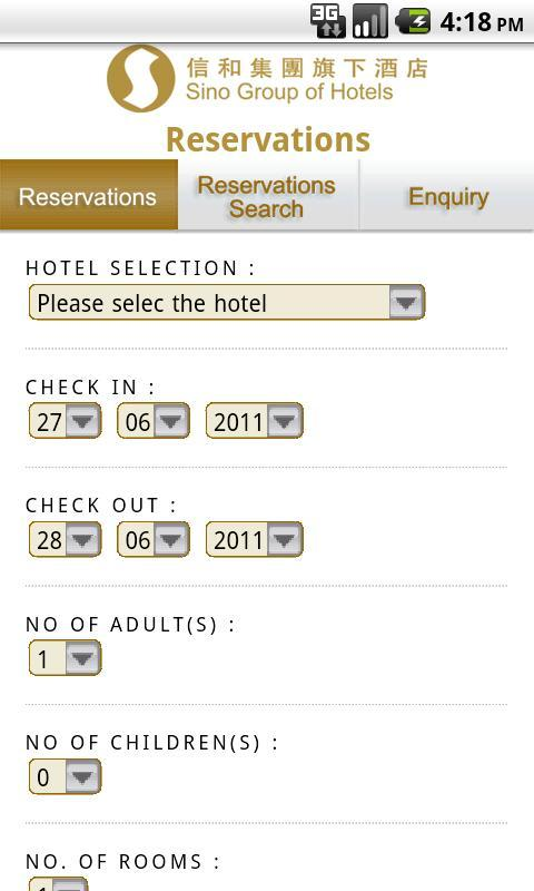 Sino Group of Hotels- screenshot