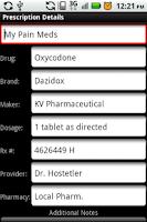 Screenshot of My Rx Info