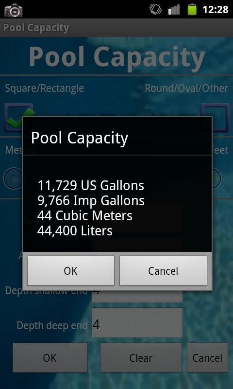 Pool Capacity - screenshot