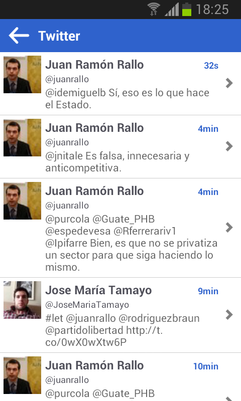Juan Ramón Rallo App - screenshot