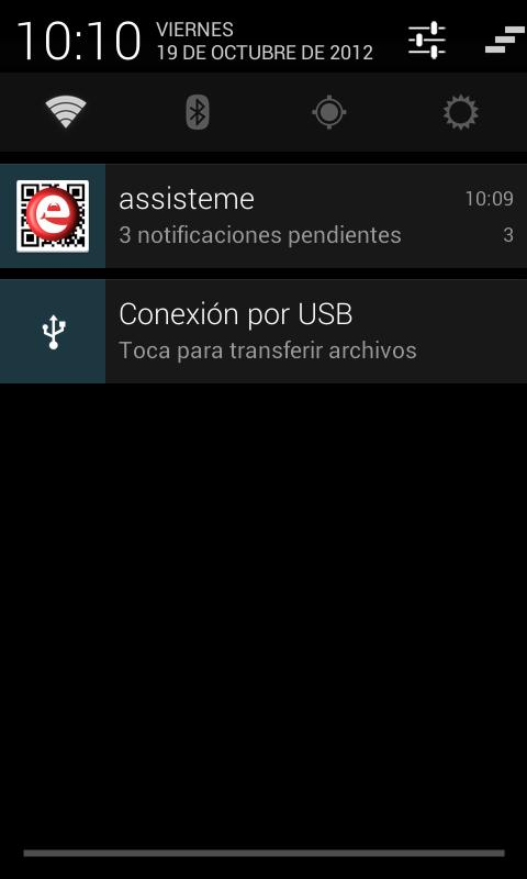 Assisteme - Cliente de avisos.- screenshot
