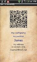 Screenshot of QBEE - QRcode namecard
