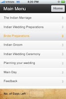 Screenshot of Indian Wedding Planner