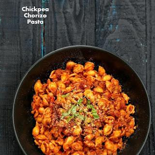 Chickpea Chorizo Pasta.