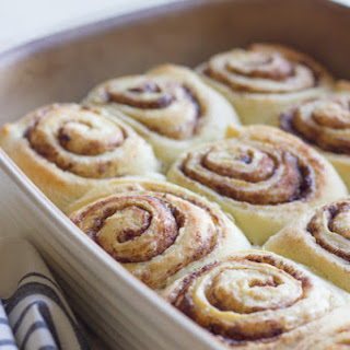 Overnight Cinnamon Rolls With Cream Cheese Frosting.