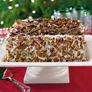 Chocolate-Bourbon-Pecan Cake.