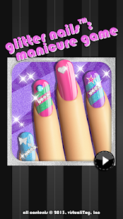 Glitter Nail Salon: Girls Game- screenshot thumbnail
