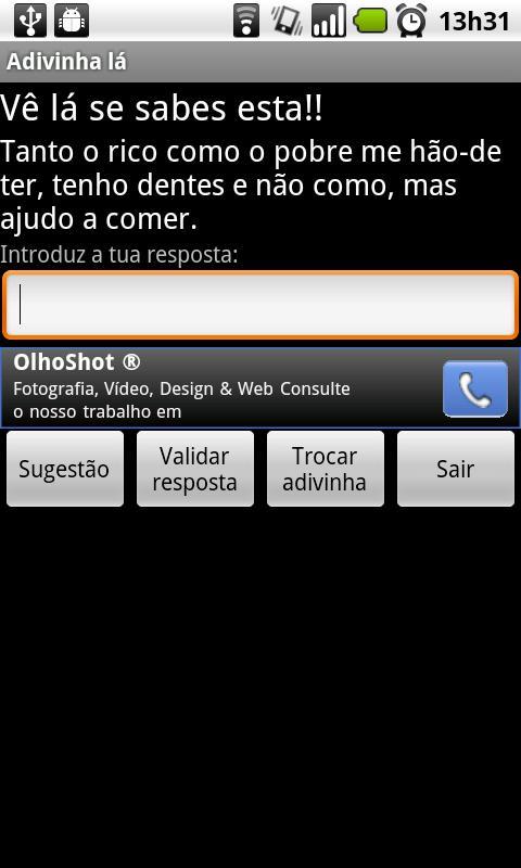 Adivinha lá!- screenshot