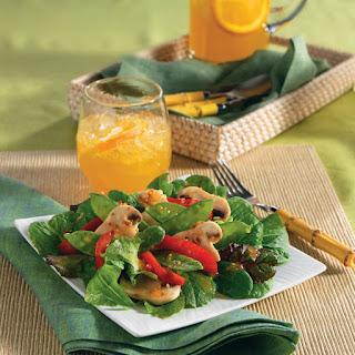 Simple Snow Peas & Mushroom Salad