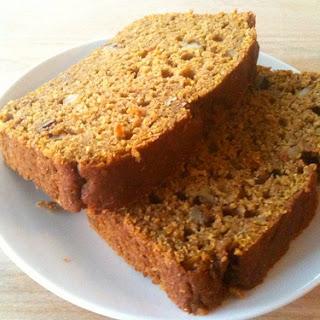 Whole Wheat Pumpkin Bread.