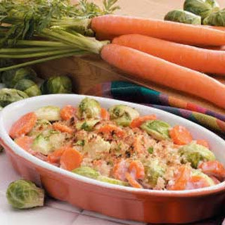 Spicy Brussels Sprouts and Carrots