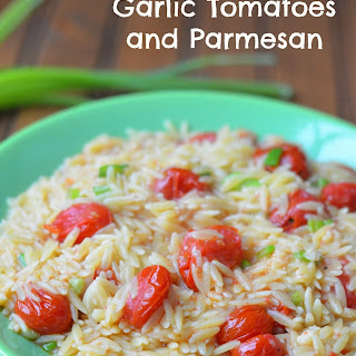 Orzo with Roasted Garlic Tomatoes and Parmesan