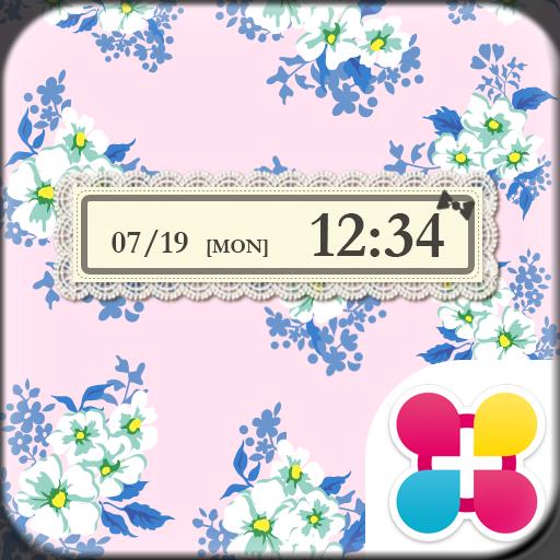クチュールローズ(ピンク)花柄壁紙きせかえ Icon