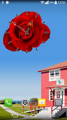 玫瑰花 時鐘