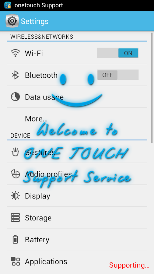 ONE TOUCH Support- screenshot