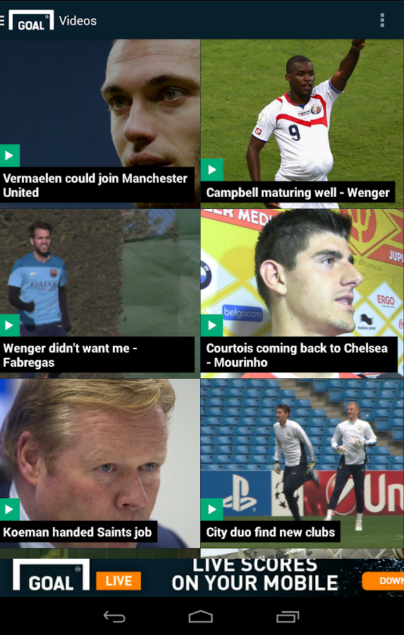 Goal.com - screenshot