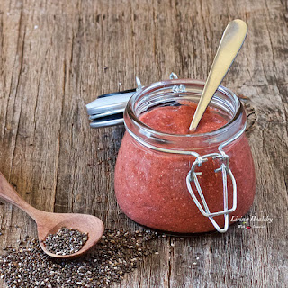 Strawberry-Mango Chia Seed Jam (sugar-free, Paleo)
