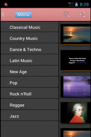 vMusic - free music in videos - screenshot