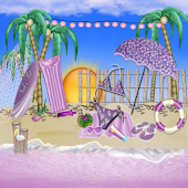 Purple Bikini Summer GO THEME