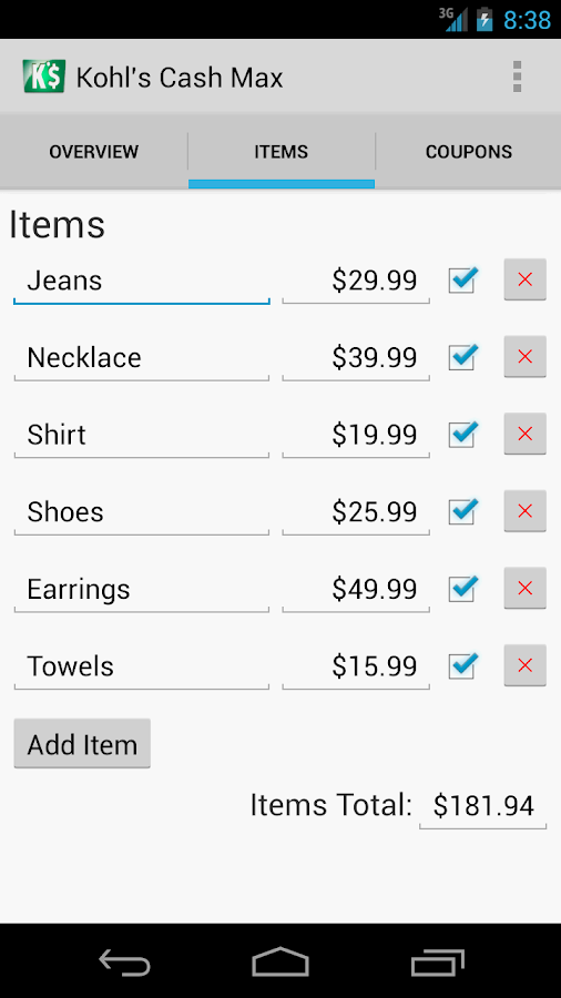 Kohl's Cash Max - screenshot
