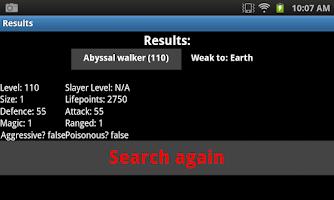 Screenshot of Runescape 3 Beast Database