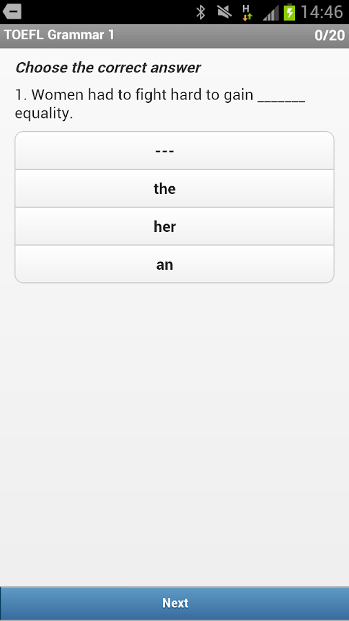 Exam English: TOEFL® Grammar- screenshot