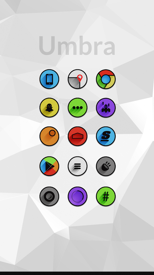 Umbra - Icon Pack - screenshot