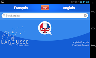 Screenshot of English-French dictionary