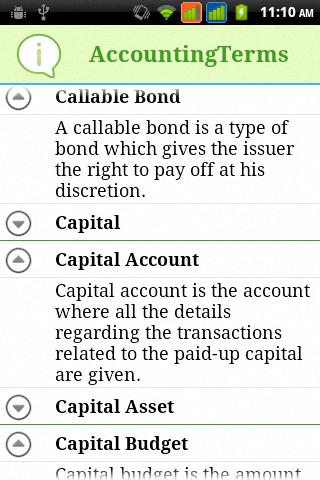 Accounting Terms - screenshot