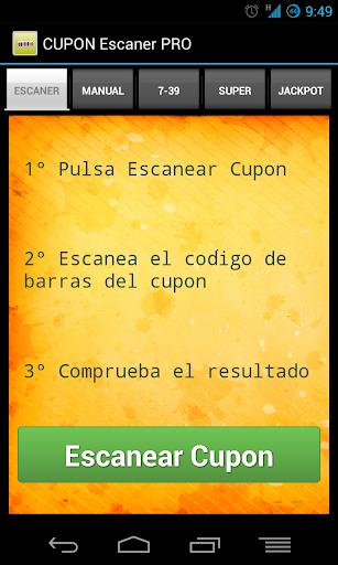 Cupon Escaner ONCE - PRO