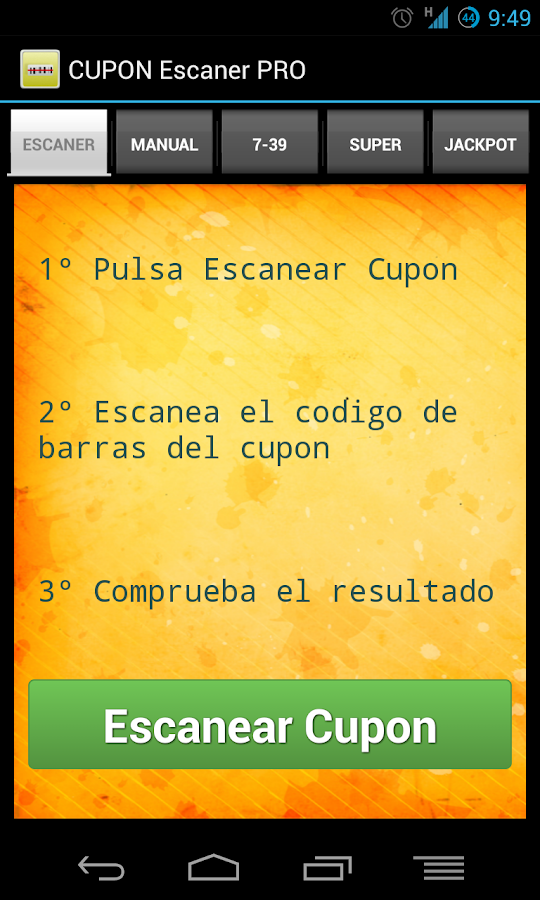 Cupon Escaner ONCE - PRO- screenshot