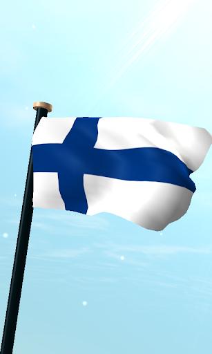 フィンランドフラグ3D無料ライブ壁紙