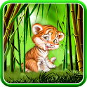 Cute tiger cub live wallpaper icon