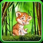 Cute tiger cub live wallpaper icon