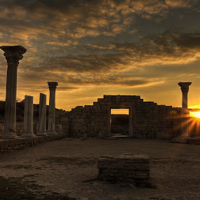 Hersonissos. Basil 2. by Александр Науменко - City,  Street & Park  Historic Districts ( old, christianity, ruin, stone, travel, landscape, excavations, basil, coast, historic, city, religion, ancient, perspective, ruins, monument, sevastopol, black, vladimir, building, byzantine, church, simferopol, the ancient city, tourism, history, crimea, landmark, bell, russia, ukraine, view, medieval, antique, wall )