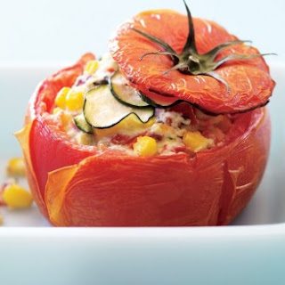 Ricotta-Basil Stuffed Tomatoes.